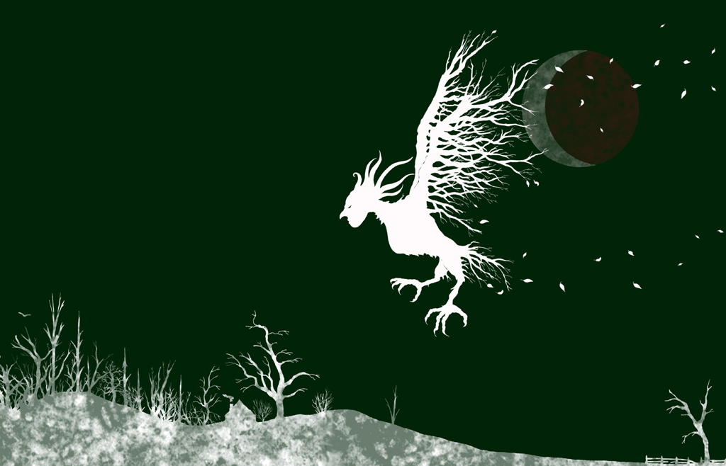 Baba Yaga, the White Witch; Photoshop and Pen & Ink. 2009