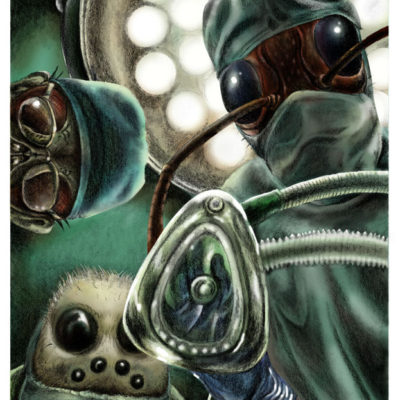 The Operation; Graphite pencil and Photoshop. 2010