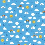 Cloud Pattern- Sunny Weather; Illustrator. 2010